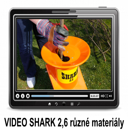 VIDEO SHARK 2,6 - shredding of various materials