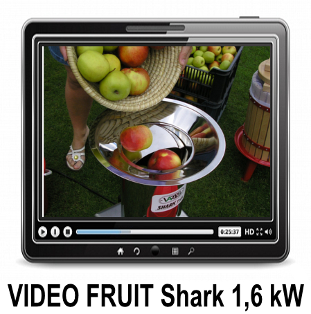 Video FRUIT SHARK 1,6 kW fruit shredder