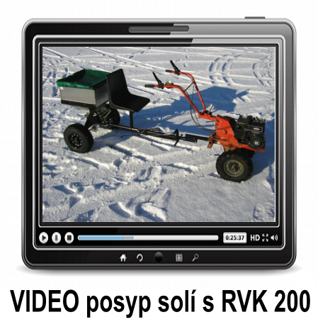 VIDEO salt spreading with RVK 200 - VARES Trailer spreader